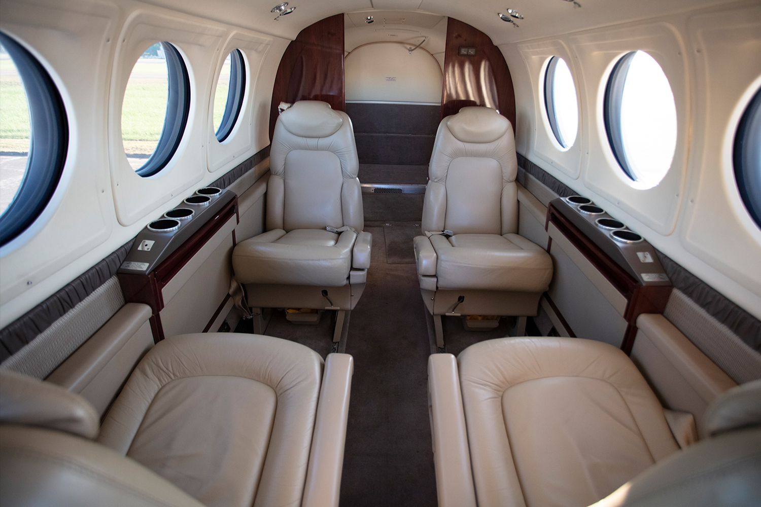 BTR Air Charter - King Air BE200 - Private lavatory interior cabin
