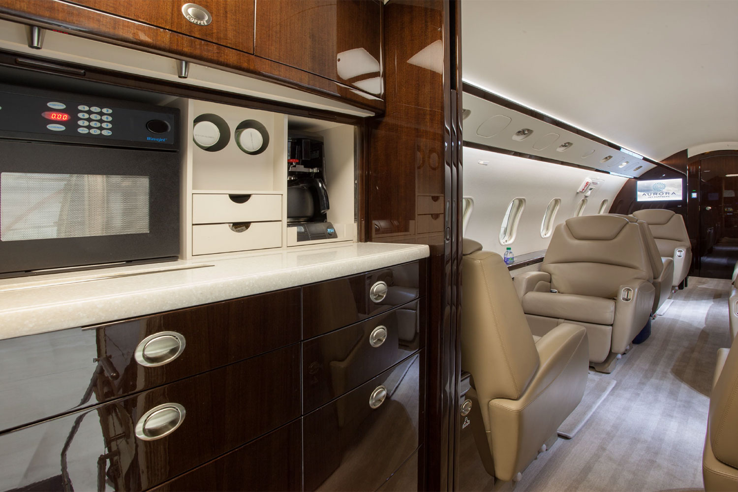 BTR Air Charter's Challenger 300 - Beverage and Snack Gallery