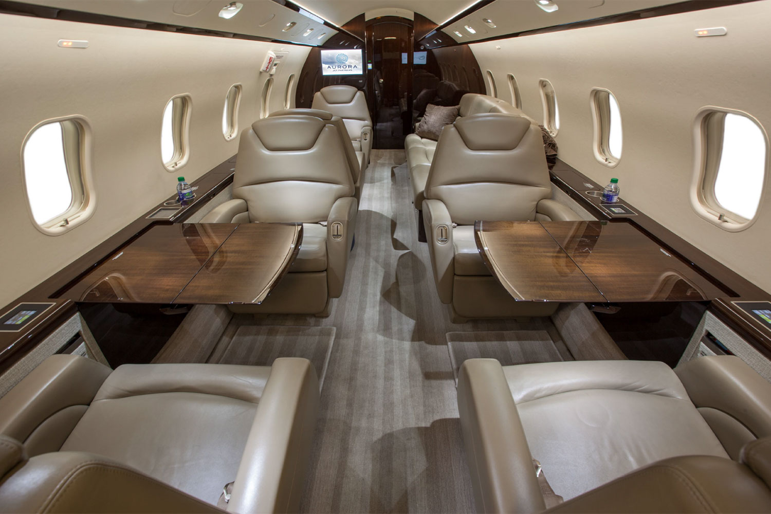 BTR Air Charter's Challenger 300 - Spacious Interior